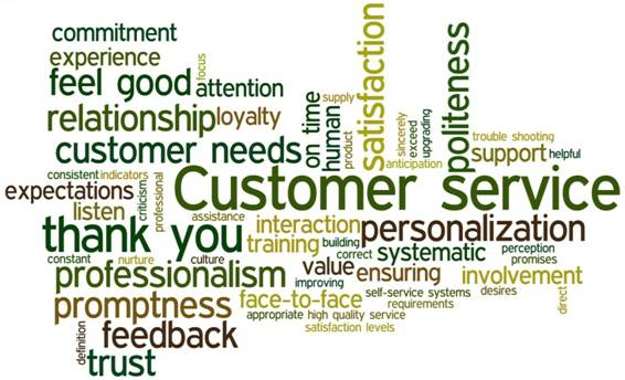 CUSTOMER SERVICES FOR CUSTOMER SATISFACTION